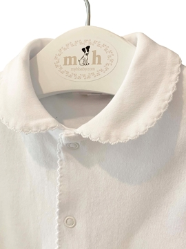 m&h sleep suit white cotton