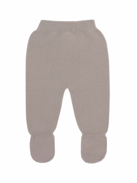 Beige thick knit baby leggings
