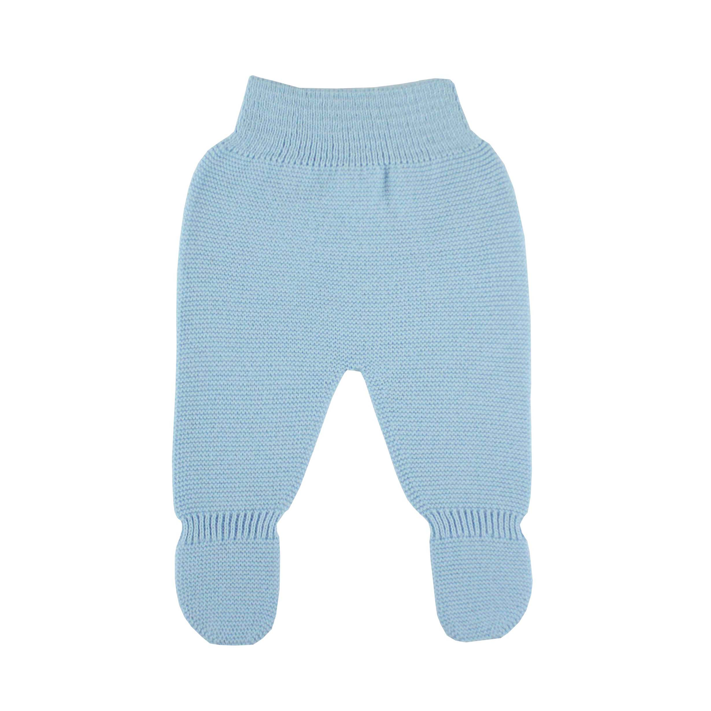 6f64a78e12190 Blue Thick knit leggings baby.