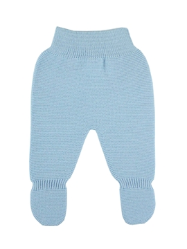 Blue Thick knit leggings baby.