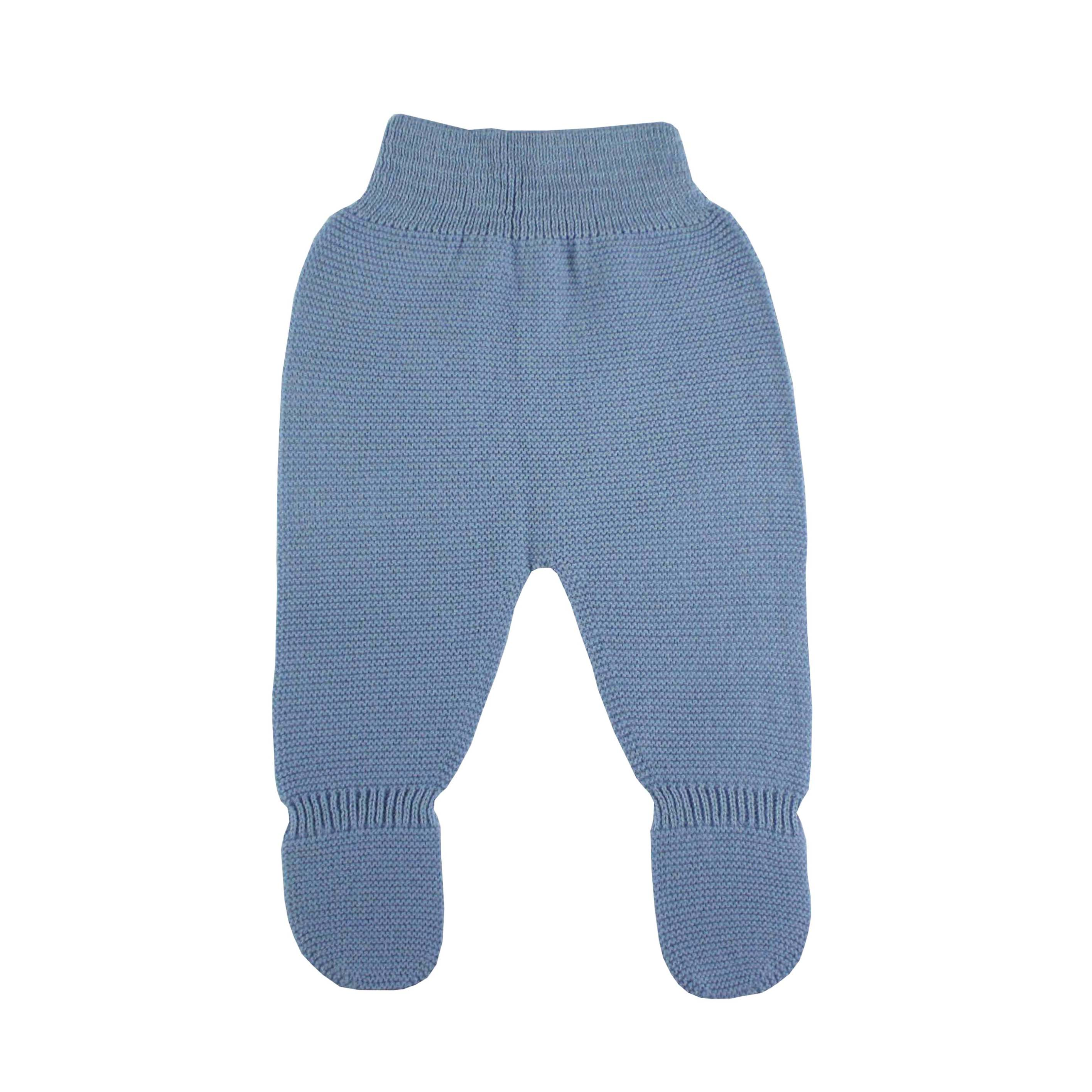 ca98c5398b974 Medium blue thick knit baby leggings