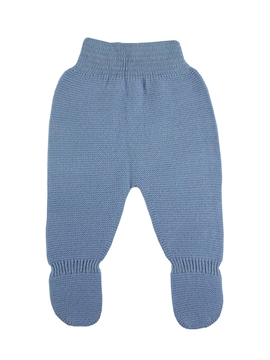 Medium blue thick knit baby leggings