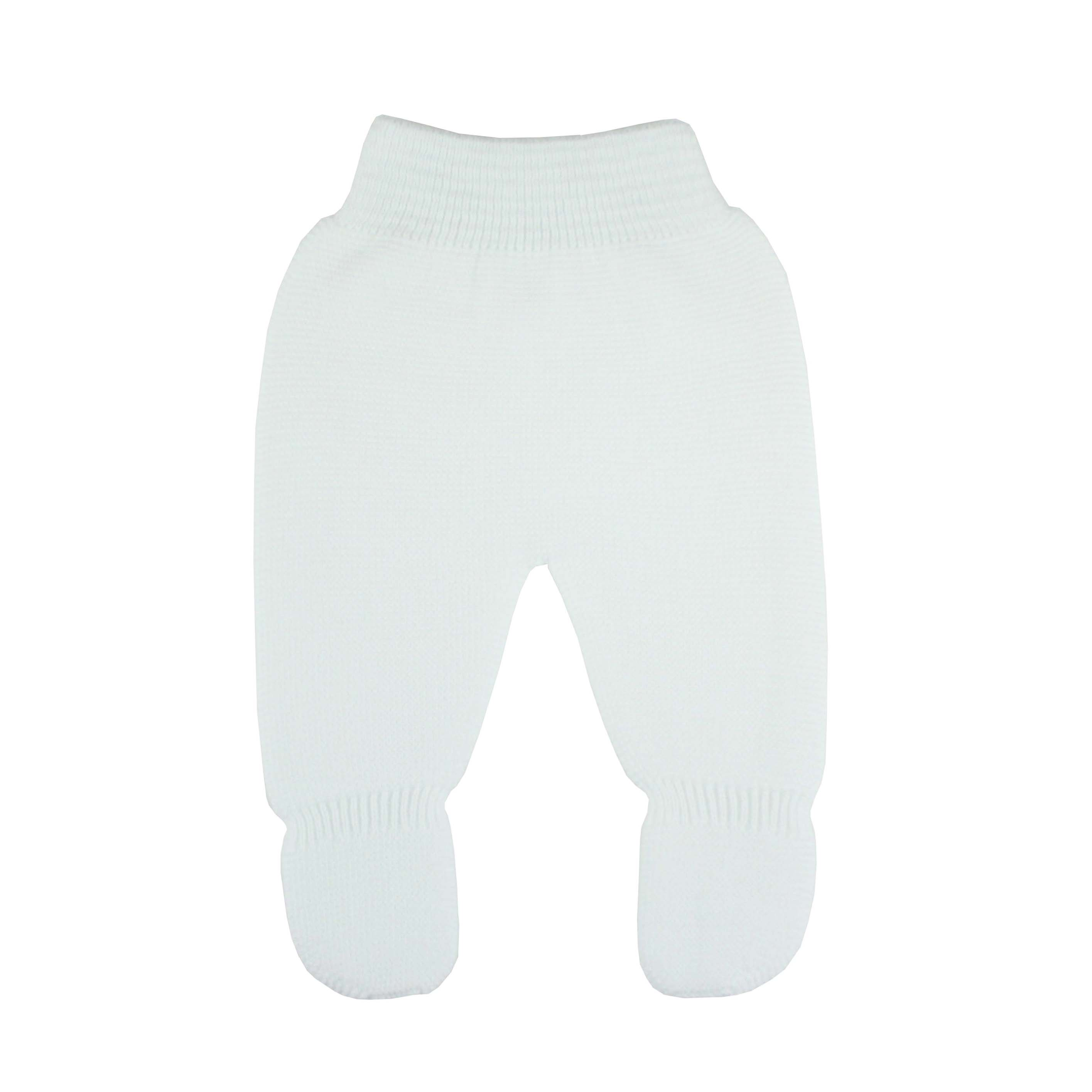 42d08d383a6c1 White Thick knit leggings baby.