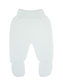 White Thick knit leggings baby.