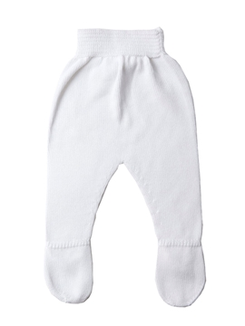 White knit baby leggings