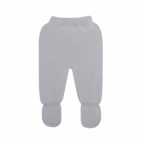 Grey thick knit baby leggings