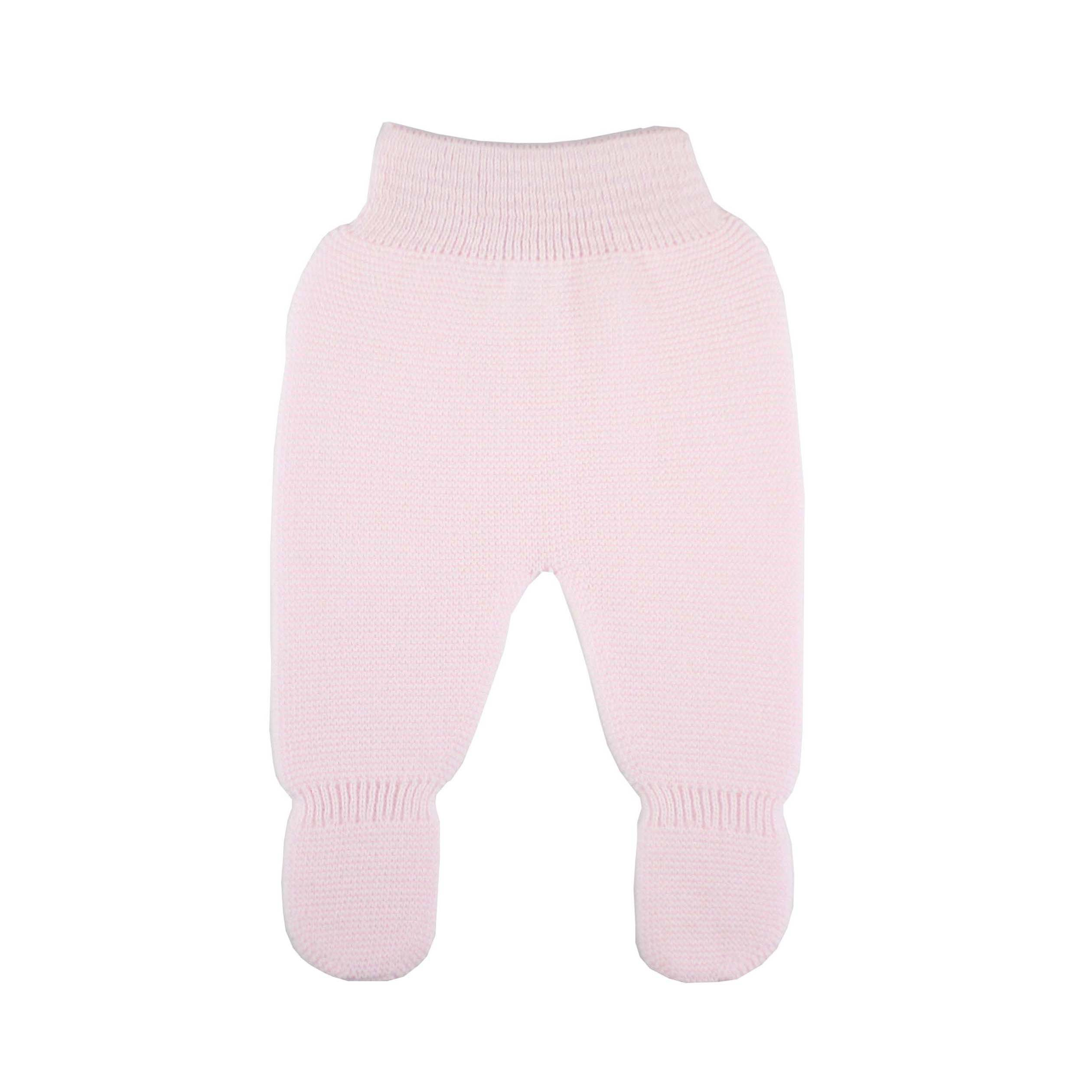 c9d8e10d14913 Pink thick knit baby leggings