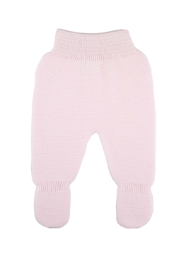 Pink thick knit baby leggings