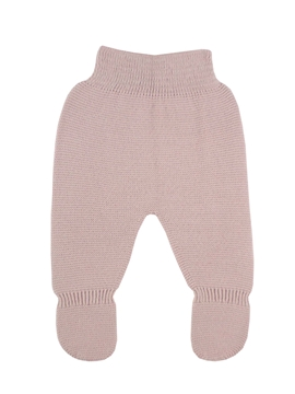 Pastel pink thick knit baby leggings