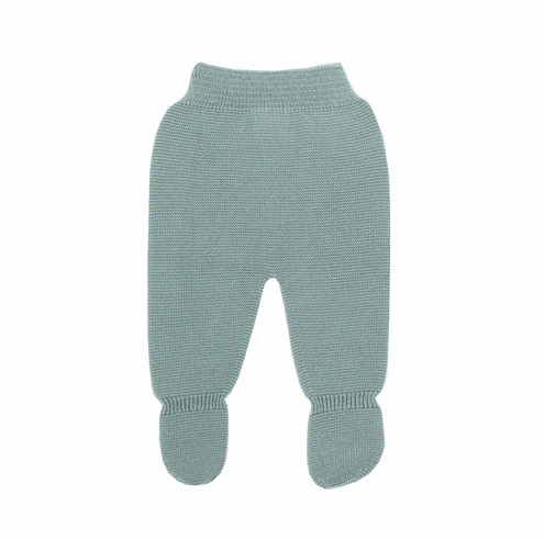 Aquarelle green Thick knit leggings baby.