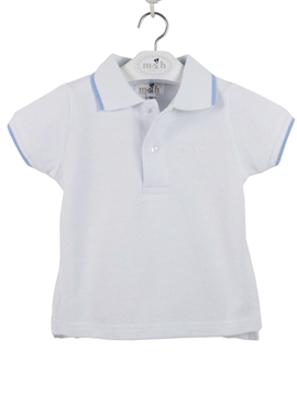 Polo shirt white and blue