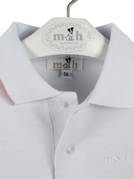 Polo shirt white and pink