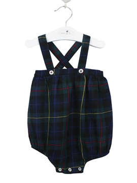 Scottish romper with braces
