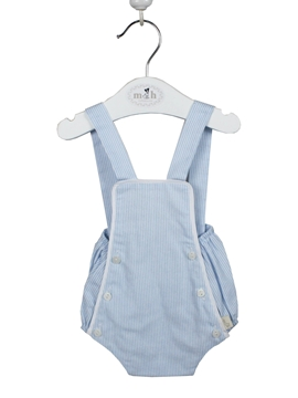 blue stripes baby romper look