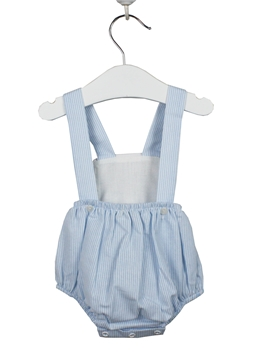 blue stripes baby romper