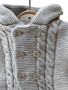 san Francisco knit two pieces for baby in grey