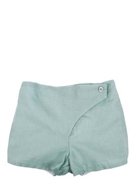 Short green with button