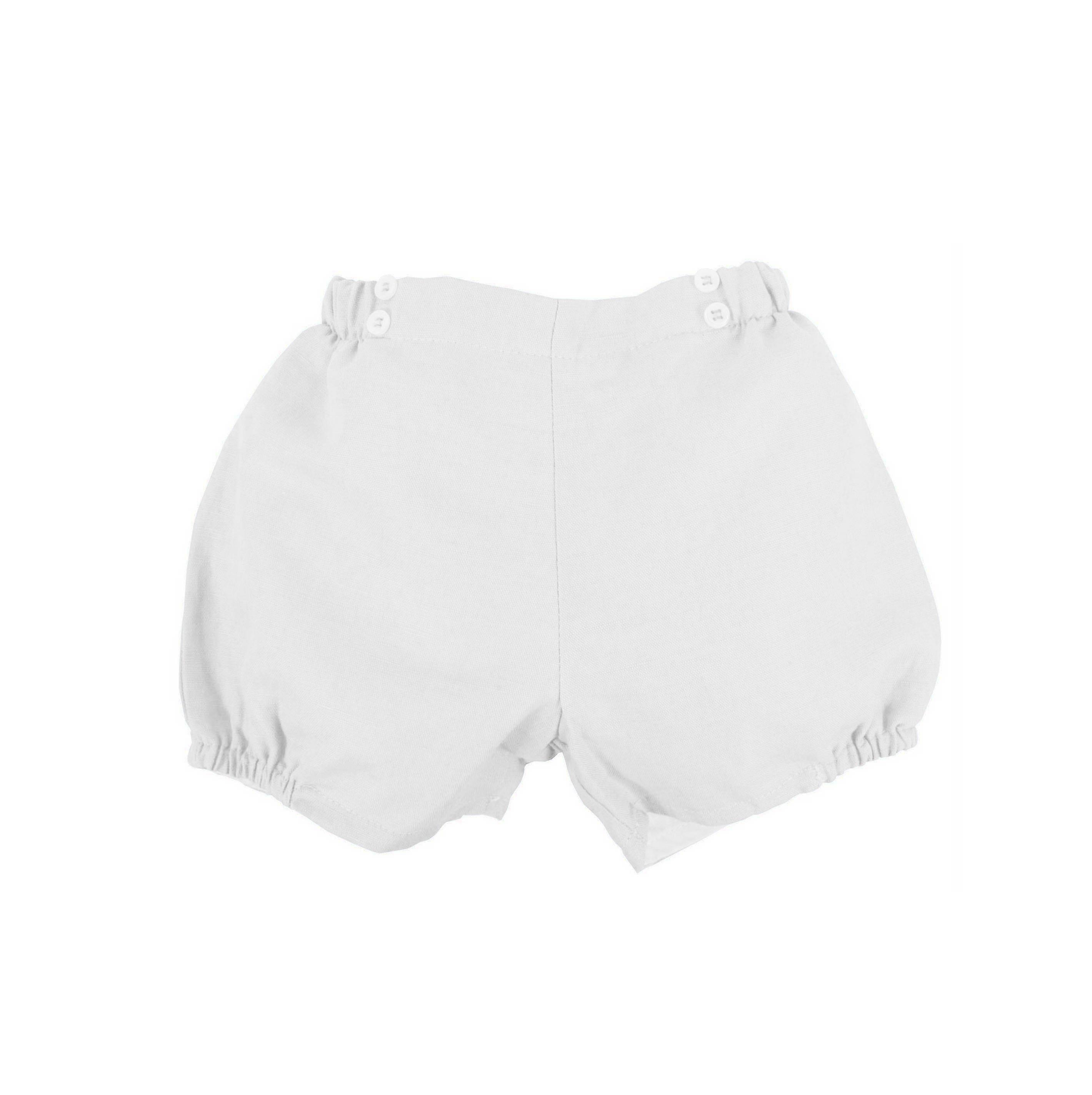 4d7c50ca89 Short botones blanco de lino