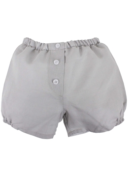 Grey buttons linen short