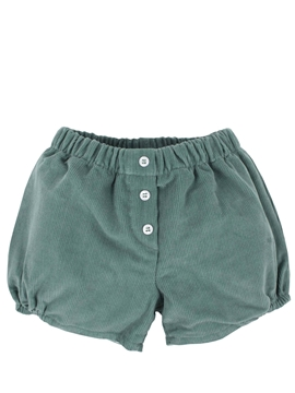 Green corduroy short m&h