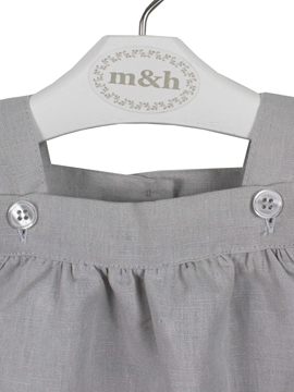 detail Grey linen romper