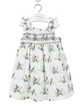 campo dress green and pink birds myh