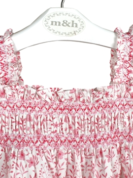 campo dress flowers pink