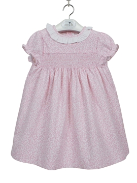 Charlotte dress pink and white