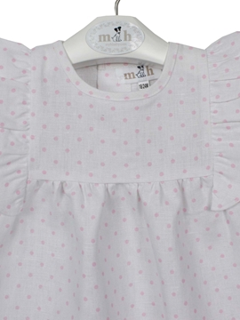 dress london pattern pink dots