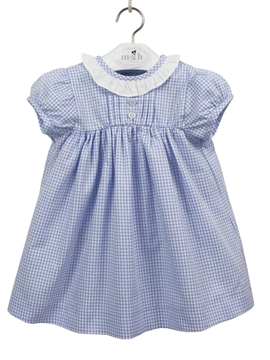 Gabriela dress white and blue plaid