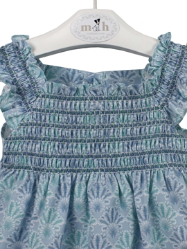 Graciela dress green and blue pattern