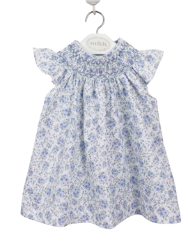 salito dress little flower green and blue