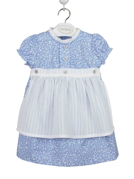 tirol dress blue and white