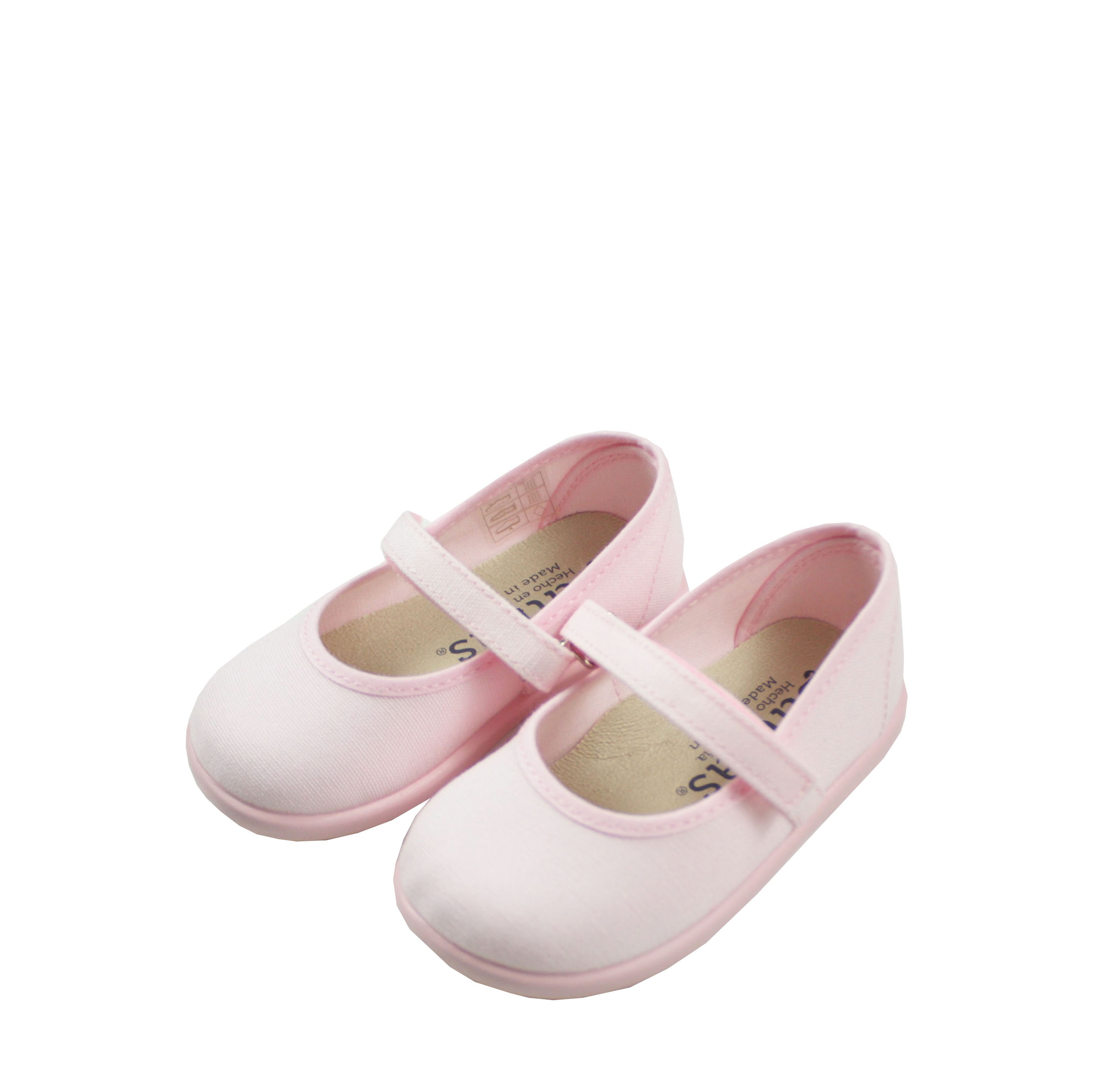 Pink canvas mary jane shoes for toddler