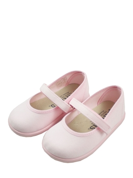 pink toddler canvas mary jane shoes for girls