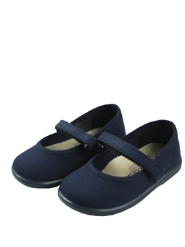 Navy blue canvas girl shoes