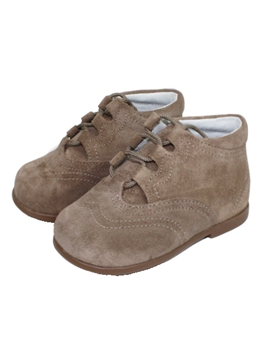 Beige boot suede shoes