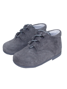 Grey suede boot