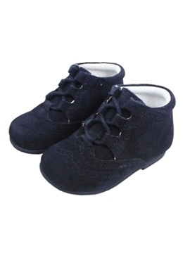 Navy blue suede boot
