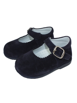 Girl suede shoes in navy blue