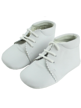 White boots soft leather baby shoes with laces