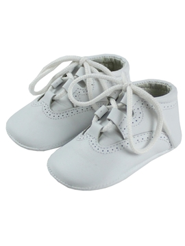 White soft leather baby shoes Wales model