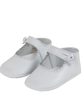 Zapatos bebe merceditas blanco